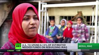 US to spend 0,15% of estimated needed funds on rebuilding Iraq