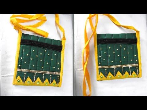 How to make Handcrafted sling side bag   Banjara Work Bags   Handmade Bags   UMA
