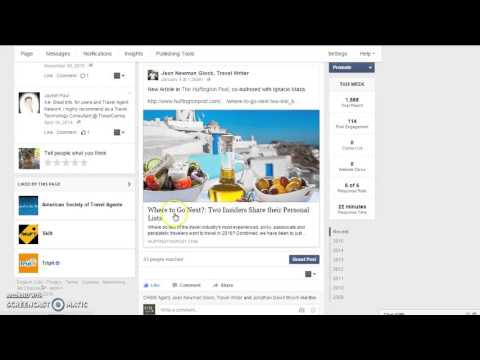 How to share articles on different types of  Facebook pages