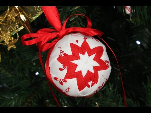 Quilted Christmas Ornament - No Sew Christmas Decoration / Bauble