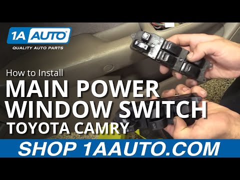 How to Replace Install Power Window Switch 97-01 Toyota Camry