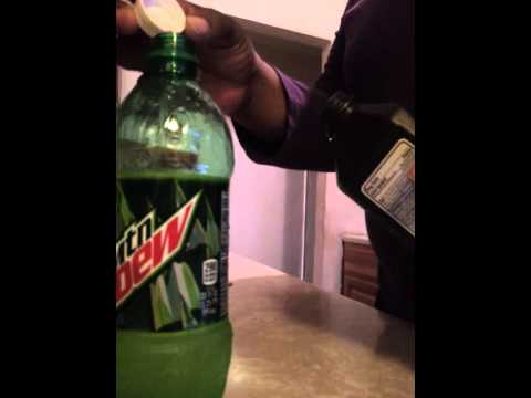 Making Mountain Dew into a glowstick experiment