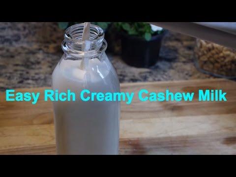 How to Easily Make Raw Vegan Cashew Milk