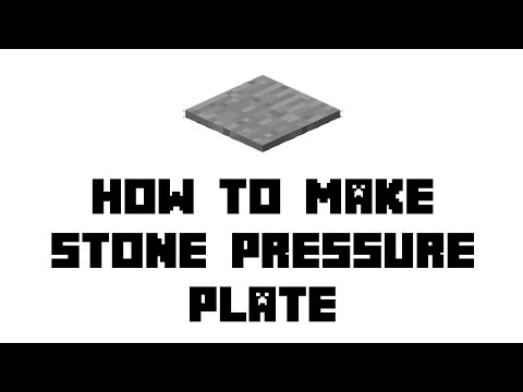 Minecraft Survival: How to Make Stone Pressure Plate