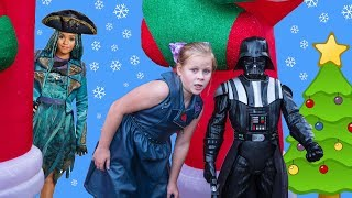 ASSISTANT Hunt for Descendants + Paw Patrol + Disney Princess Funny Kids Video