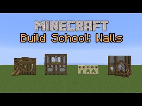 Minecraft Build School: Walls