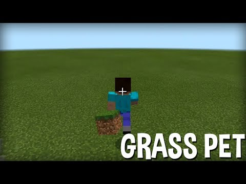 Minecraft PE: How to make a Grass Pet   No Mods/Add-Ons   MCPE Command Block Creation