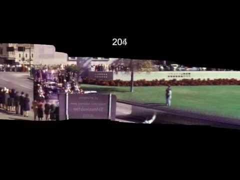 JFK Assassination Zapruder Stabilized Motion Panorama HD plus SloMo - 50th anniversary