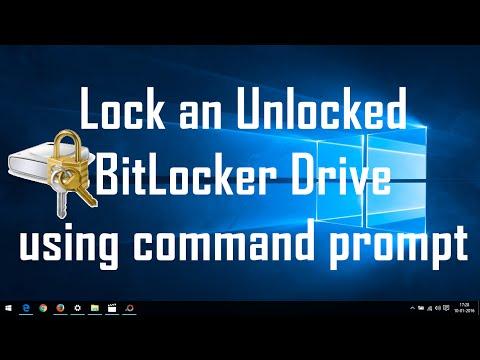 Windows 10 Tips : Lock an Unlocked Bitlocker Drive using cmd Prompt