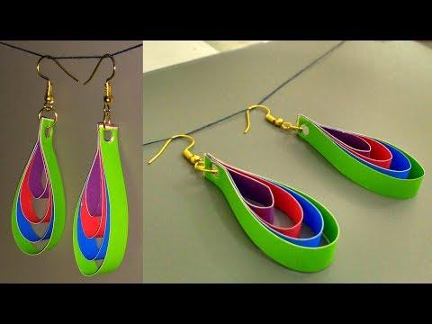 Beautiful handmade paper quilling earrings tutorial
