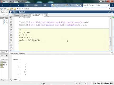 Using fprintf Statements for Numbers in Matlab