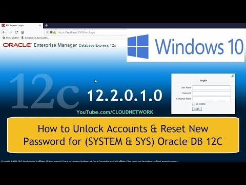 How to Unlock Accounts and Reset New Passwords for (SYSTEM & SYS) Oracle DB 12C in Windows 10