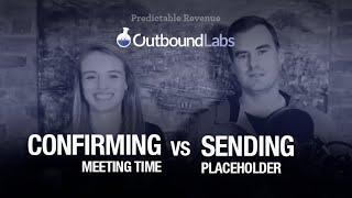 LinkedIn - Confirming meeting time vs. sending placeholder | Predictable Revenue