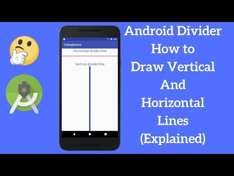 Android Divider - How to Draw Vertical And Horizontal Lines (Explained)