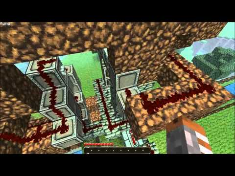 Minecraft Piston Elevator Up and Down! with 1.7.3