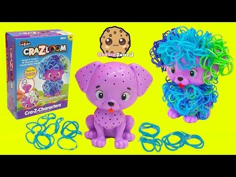 CraZLoom Cra Z Art 3D Puppy Dog Rubber Band Loom Hair Craft Kit - Cookieswirlc Video