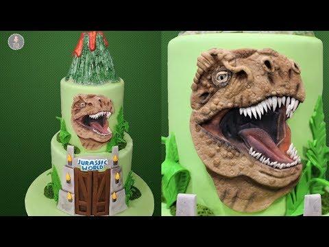 Jurassic World Cake Tutorial!