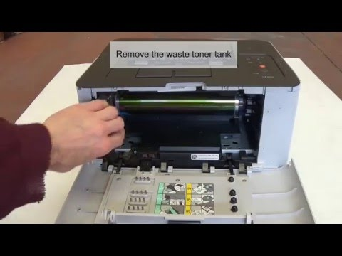 How to remove and clean Samsung Transfer Belt CLP-365