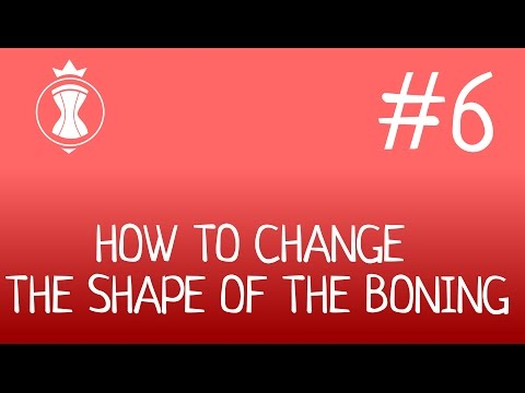 How to curve the boning. How to make a corset?