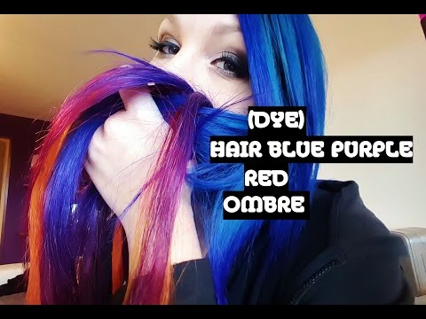 [DYE] HAIR BLUE PURPLE RED OMBRE