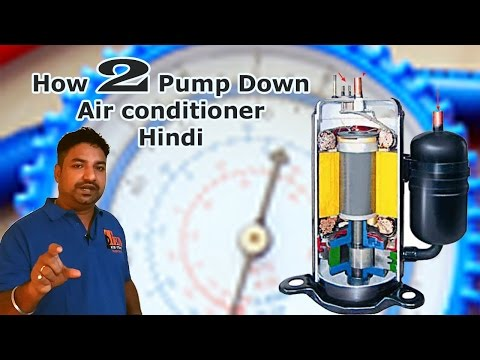 How to Pump Down an Air Conditioner - Hindi