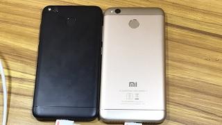 Xiaomi Redmi 4 Matte Black VS Gold Colour Comparison