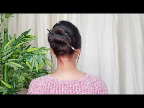 1 Min Bun for long hair// Everyday easy hairstyles for college/work