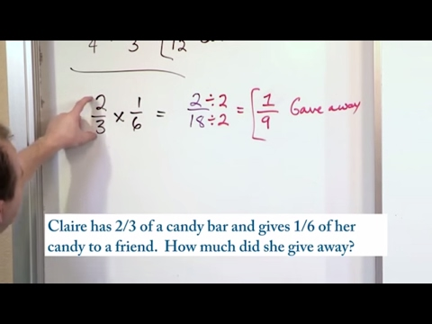 Lesson 6 - Word Problems Multiplying Fractions (5th Grade Math)