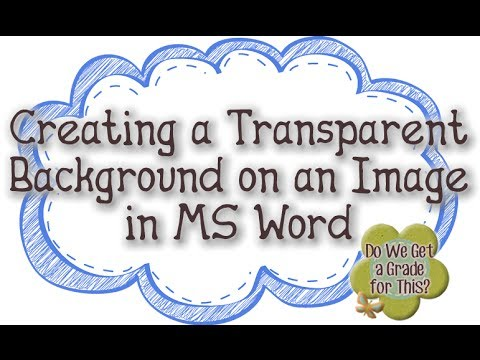 Creating a Transparent Backgound on an Image in MS Word