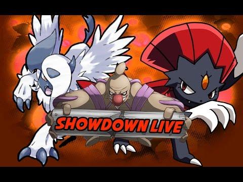 Pokemon Showdown! Live Sun and Moon: Mega Absol Weavile Dark Spam