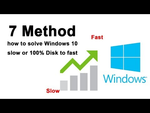 7 Method how to solve Windows 10 slow or 100% Disk to fast