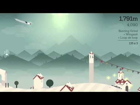 Alto's Adventure: Tupa using Wing Suit / Wingsuit - iOS iPhone 5 Gameplay