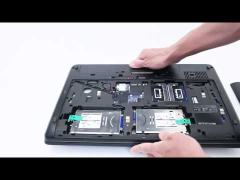 HP ZBook, add a 2nd HDD or SSD by replacing the optical drive