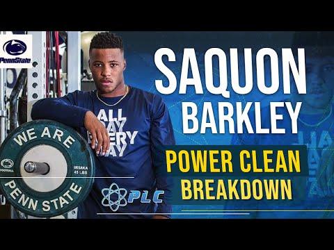 Saquon Barkley Power Clean Breakdown