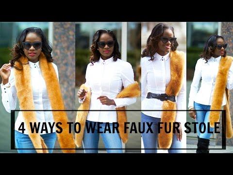 4 | WAYS TO WEAR A FAUX FUR STOLE