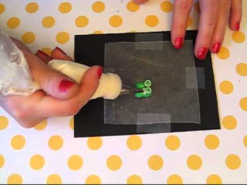 Baby Shower Petit Fours - Baby Bootie Tutorial
