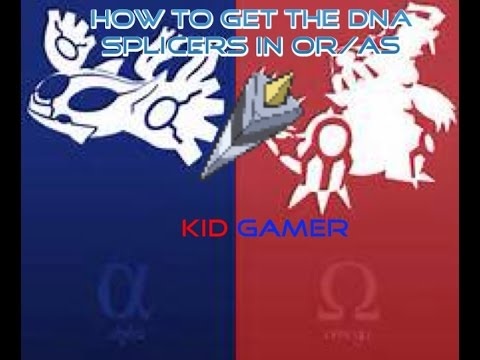 How to get the DNA splicers in pokemon ORAS