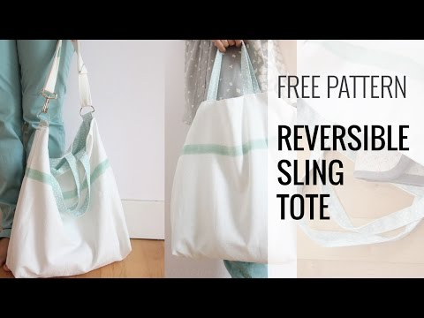 How to make a reversible tote/shoulder bag.