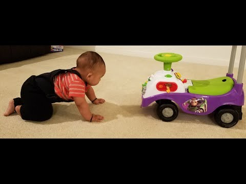 How to teach a baby to crawl..
