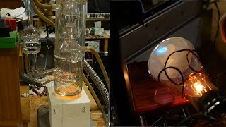 Giant glass diffusion pump and cathode ray tube demo