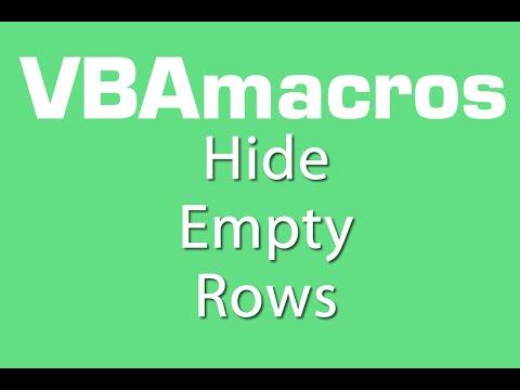 Hide Empty Rows - VBA Macros - Tutorial - MS Excel 2007, 2010, 2013