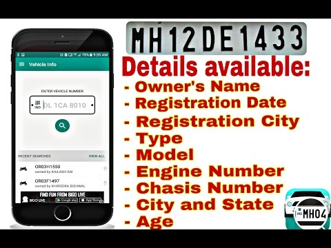 How To Search RTO Registration Details By Num Plate For India Vahan-Car,Bike,Truck On Android Phones