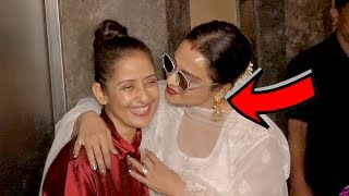 When Rekha KISS Manisha Koirala At Dear Maya Movie Screening