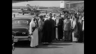 KING SAUD ARRIVES IN STUTTGART - NO SOUND - 12/31/1957