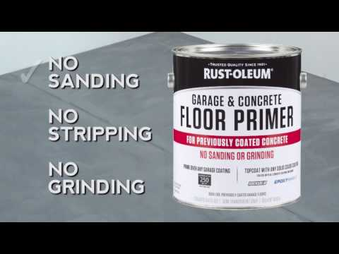 How to use RockSolid Garage & Concrete Primer for Previously Coated Floors