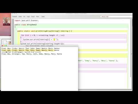 Java String array demo, switch two elements in an array