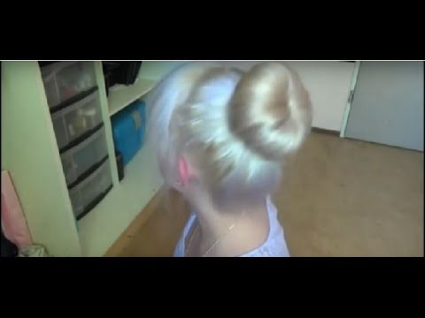 Hair donut bun tutorial- without bobby pins