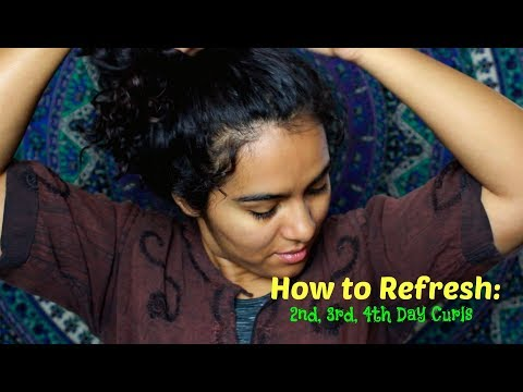 How to Refresh 2nd Day, 3rd Day, 4th Day Wavy/Curly Hair