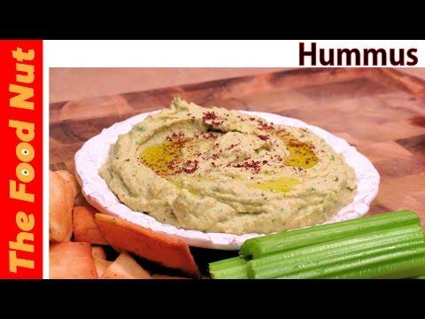 Homemade Hummus Recipe With Tahini, Garlic, Parsley & Sumac - How To Make Healthy Dip | The Food Nut