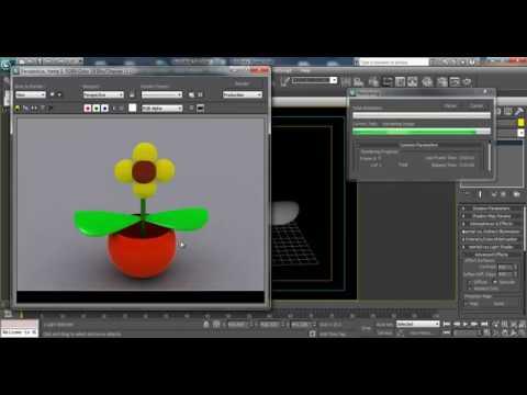 3D Max Studio Lighting Tutorial: Light Tracer Rendering With Scanline Renderer